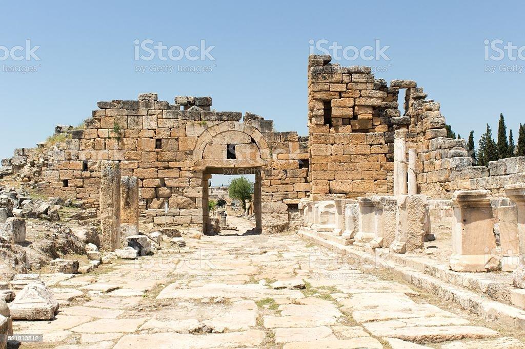 Hierapolis - North Byzantine Gate stock photo