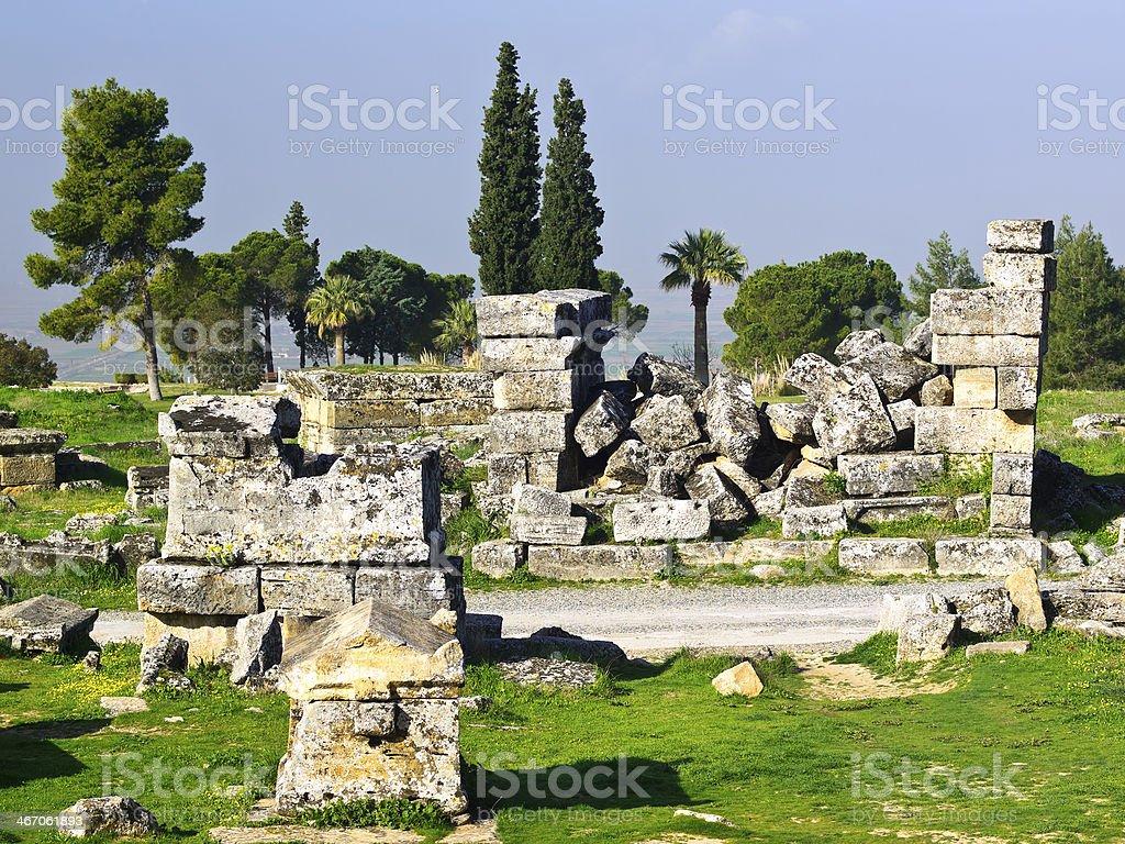 Hierapolis Ruins stock photo