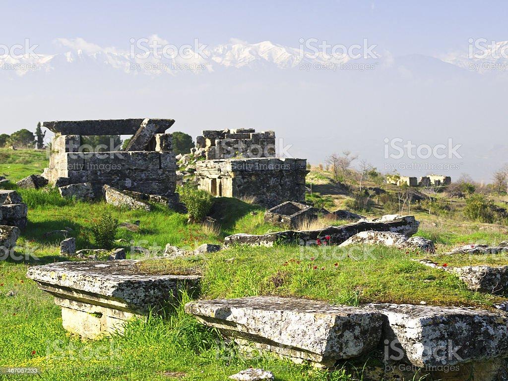 Hierapolis site stock photo