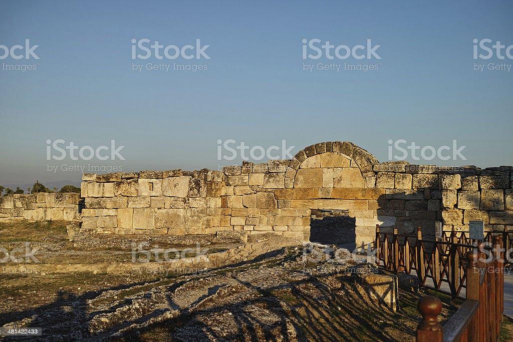 Hierapolis theater, Pamukkale, Denizli. TURKEY stock photo