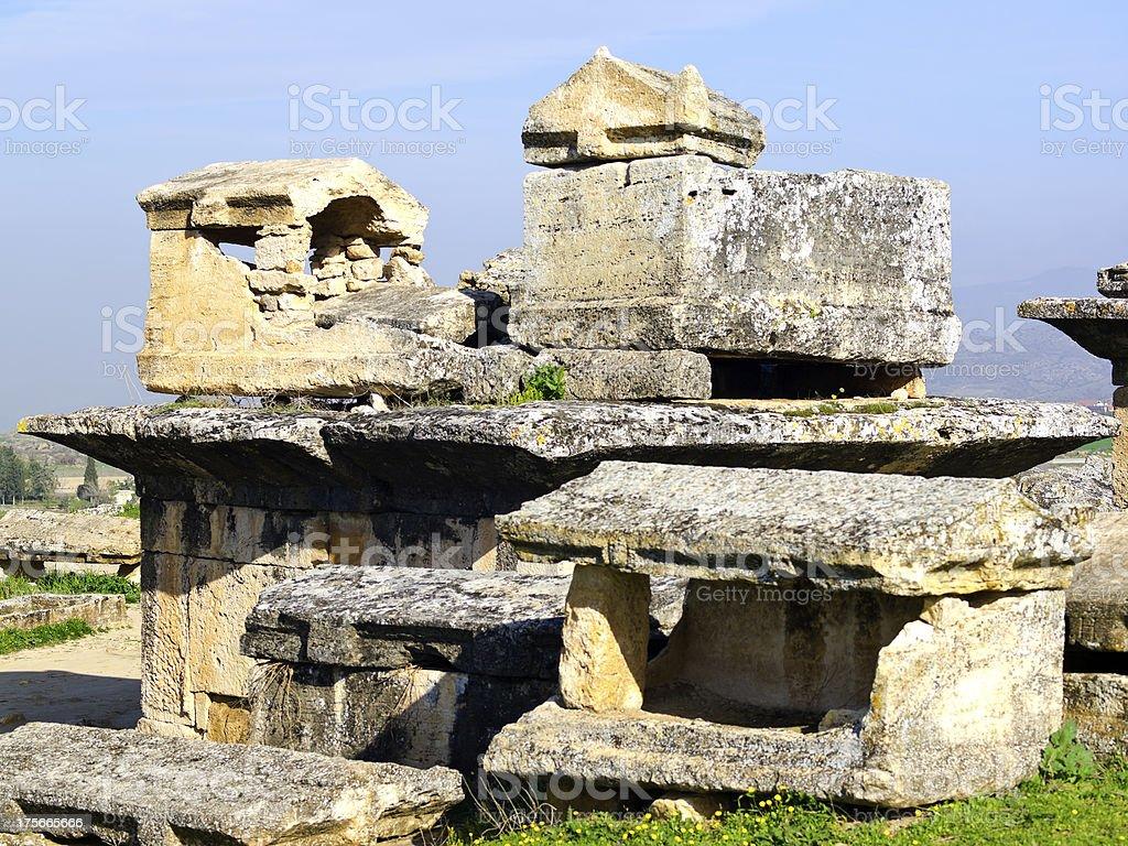 Hierapolis Tombs stock photo