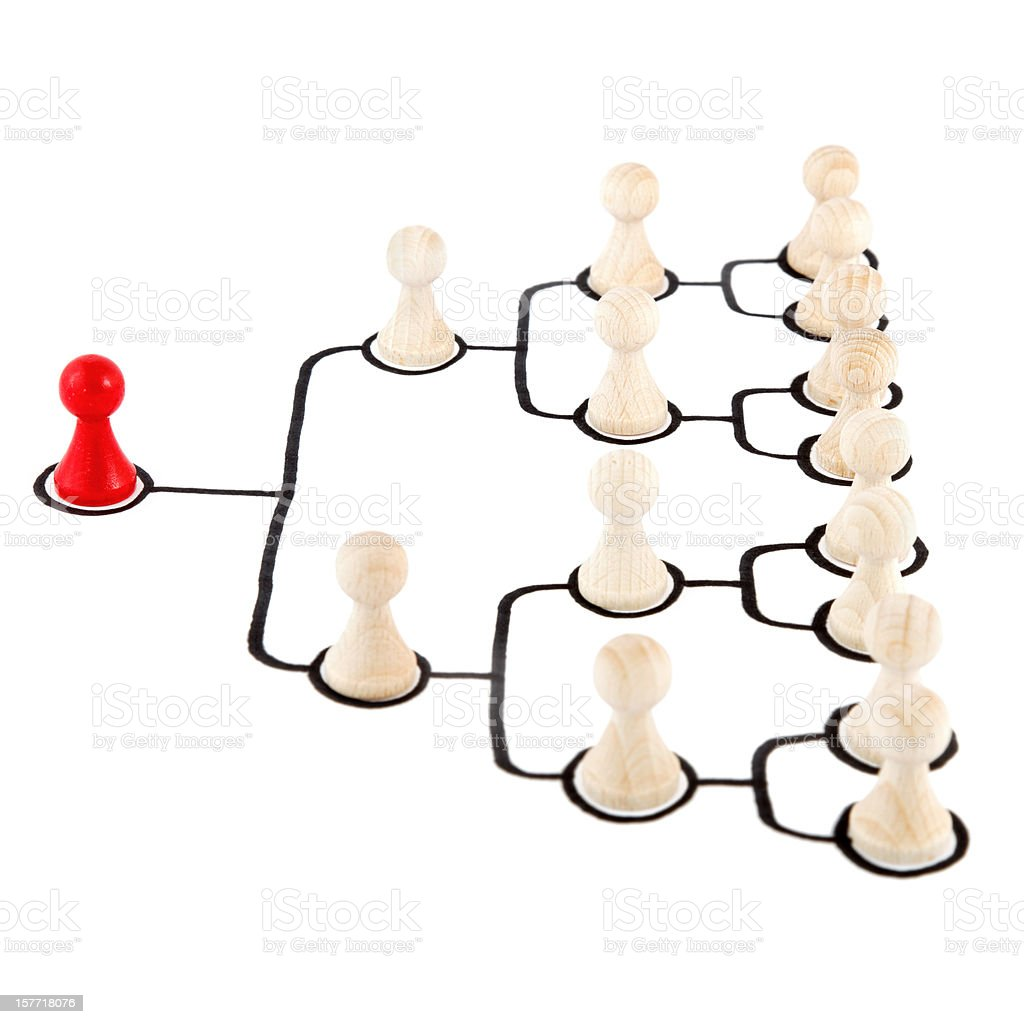 hierarchical organization royalty-free stock photo