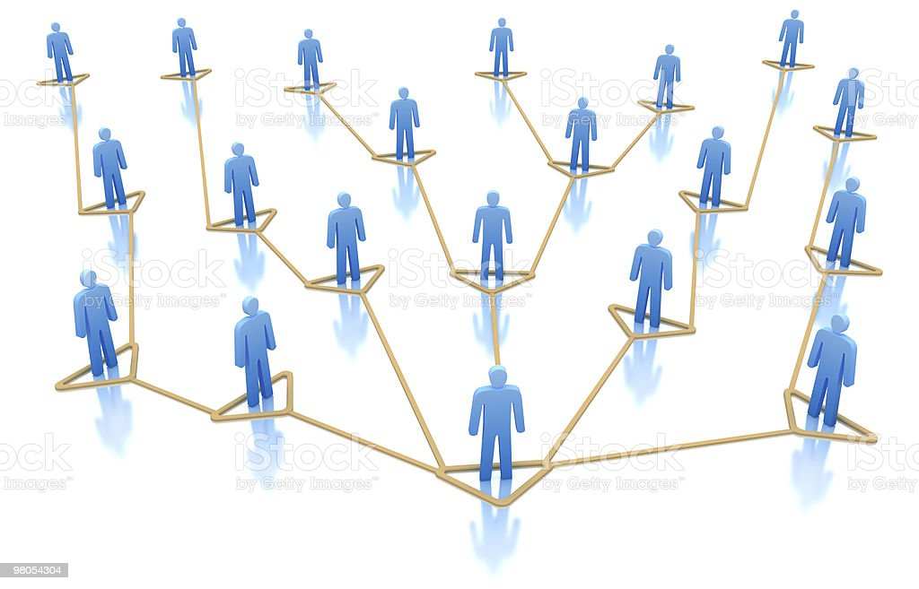 Hierarchy of business network. Workteam concept stock photo