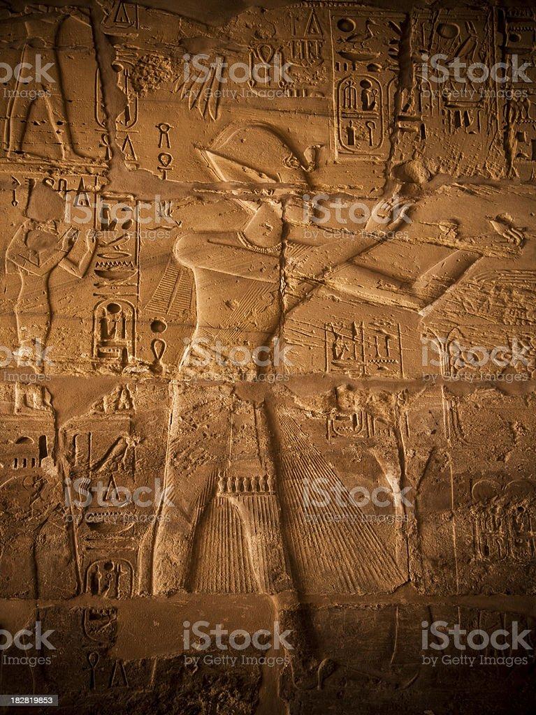 hieroglyphic royalty-free stock photo