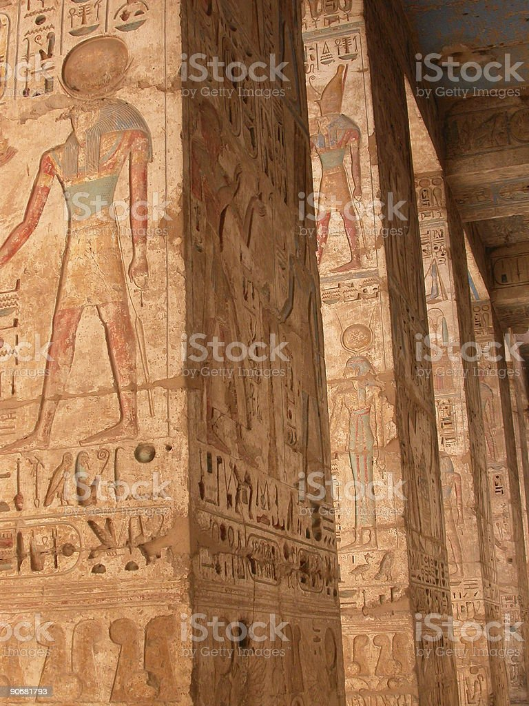 Hieroglyphic Pillars royalty-free stock photo