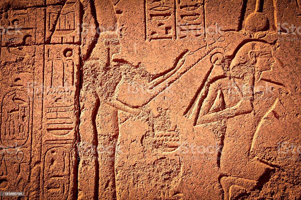 hieroglyphics from ancient egypt royalty-free stock photo