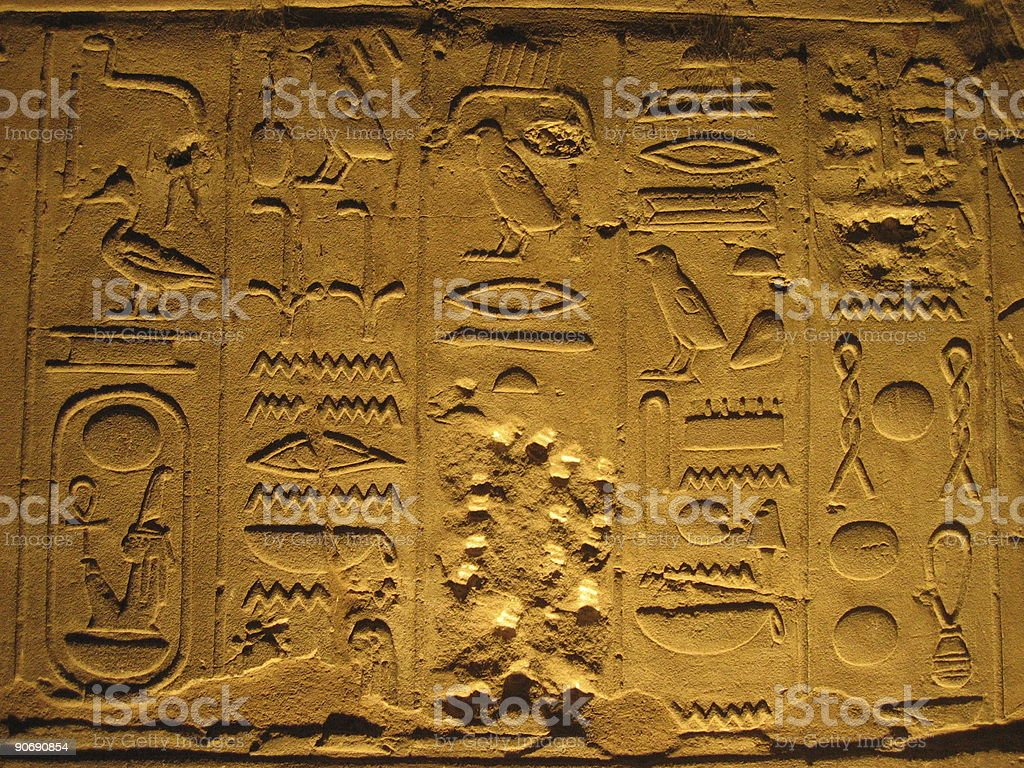 hieroglyphics in luxor royalty-free stock photo