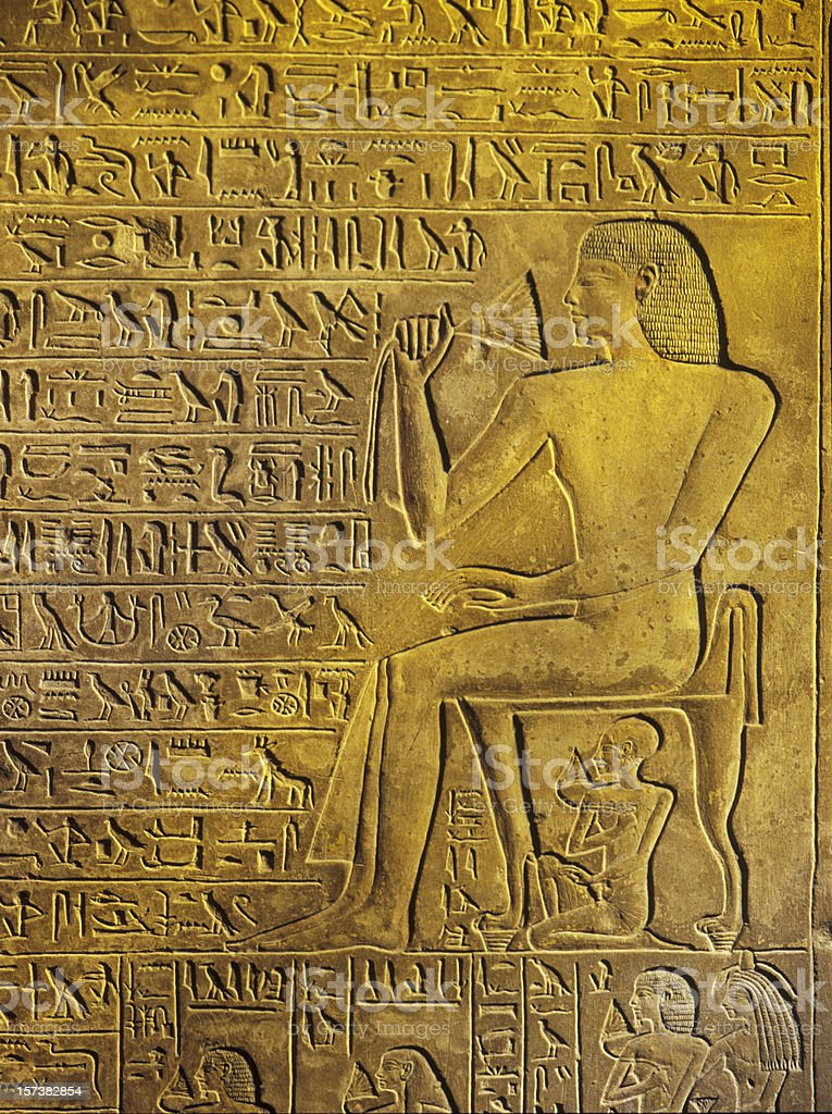 hieroglyphics royalty-free stock photo