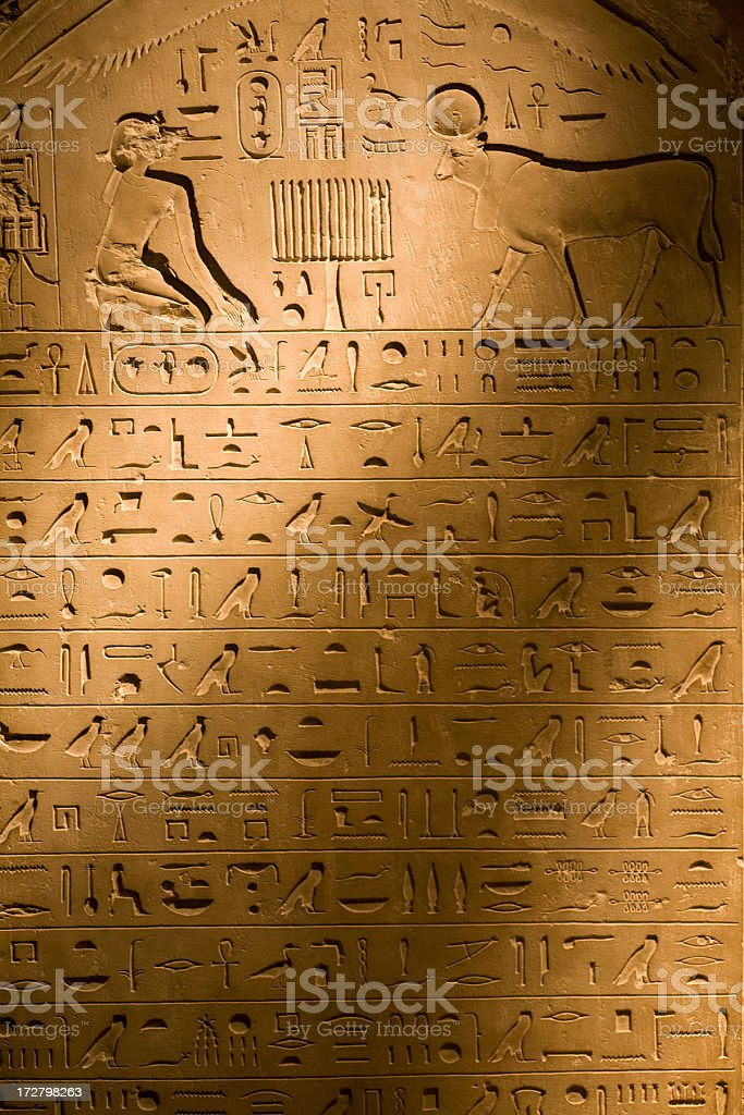 Hieroglyphs Apis royalty-free stock photo