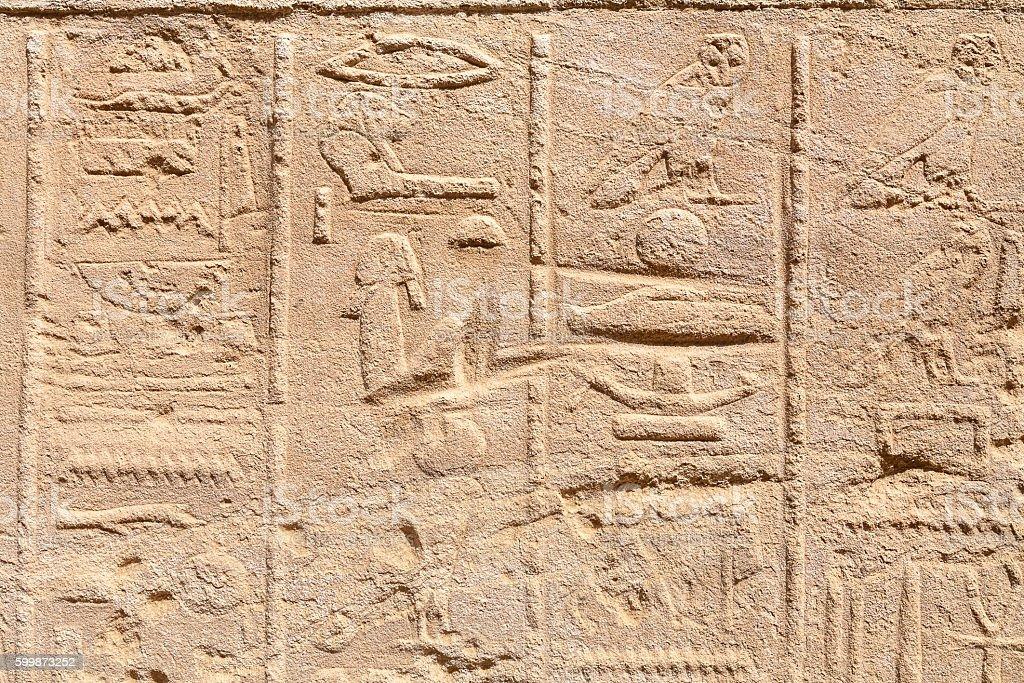 Hieroglyphs. Egypt stock photo