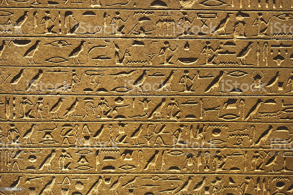 Hieroglyphs royalty-free stock photo