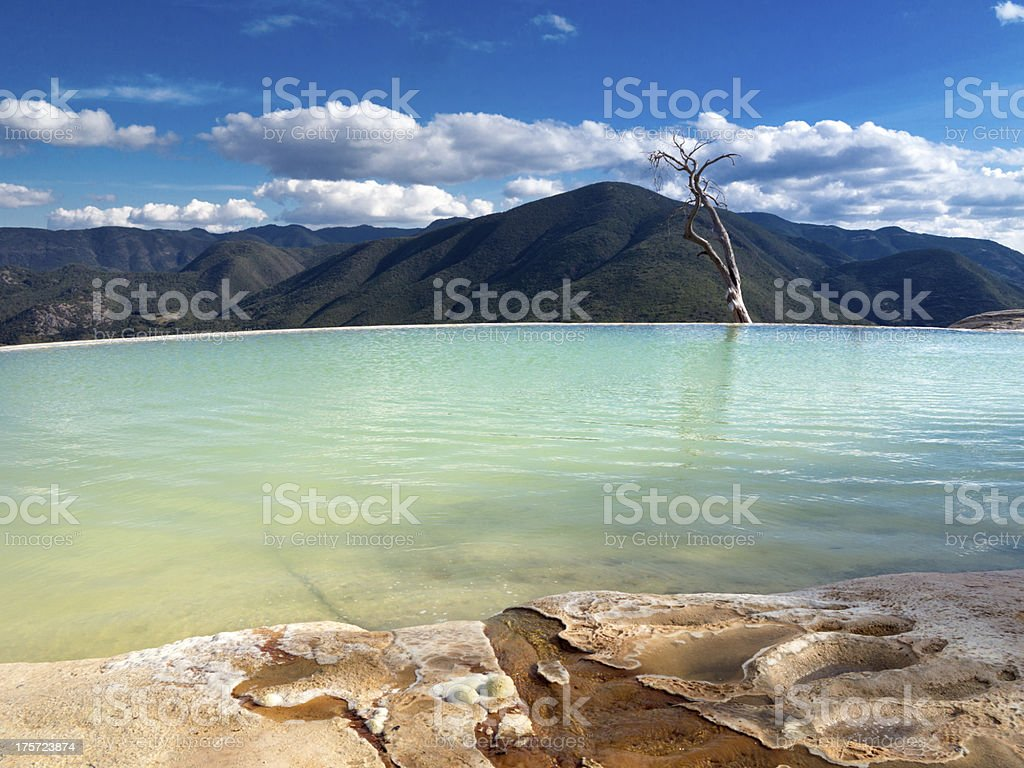 Hierve el Agua, Mexico stock photo