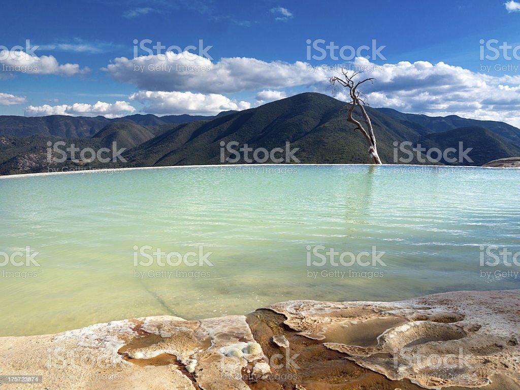 Hierve el Agua, Mexico stock photo