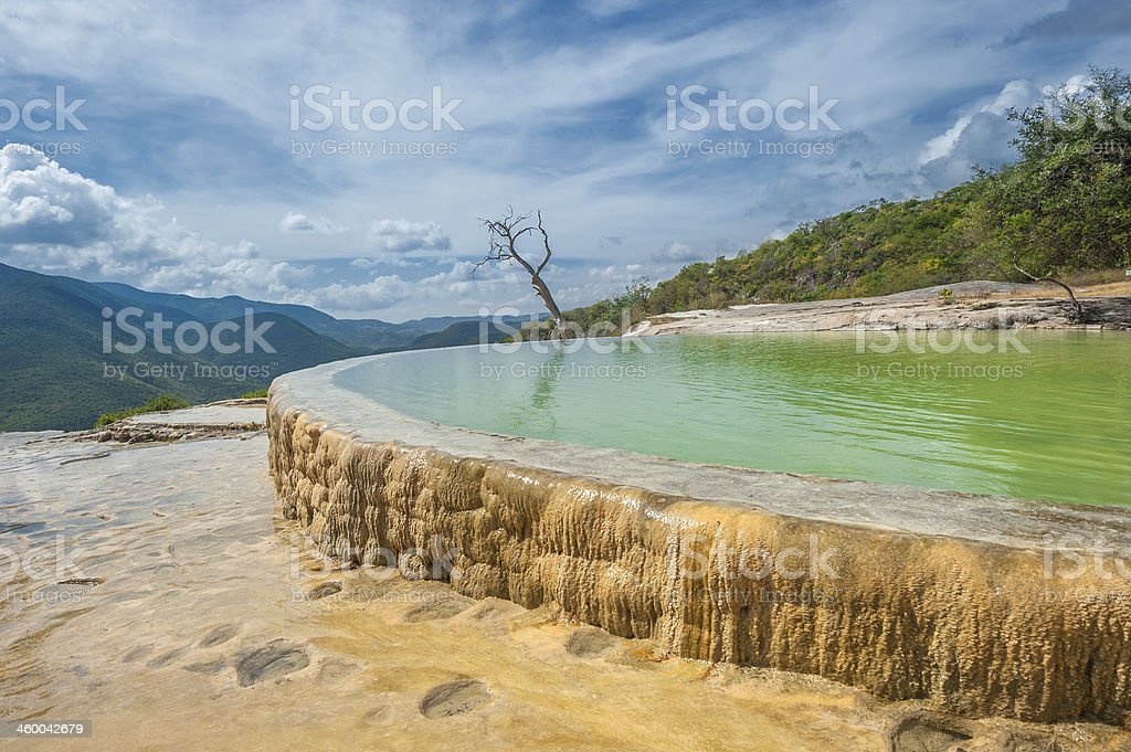 Hierve el Agua, natural rock formations in the Oaxaca state stock photo