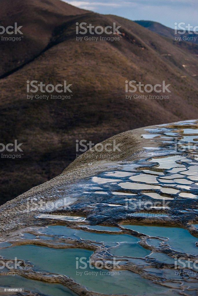 Hierve el Agua pool in Oaxaca Mexico stock photo