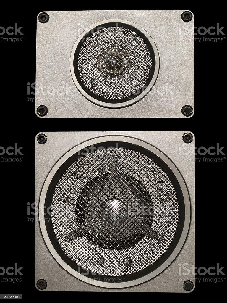 hi-fi audio speakers royalty-free stock photo