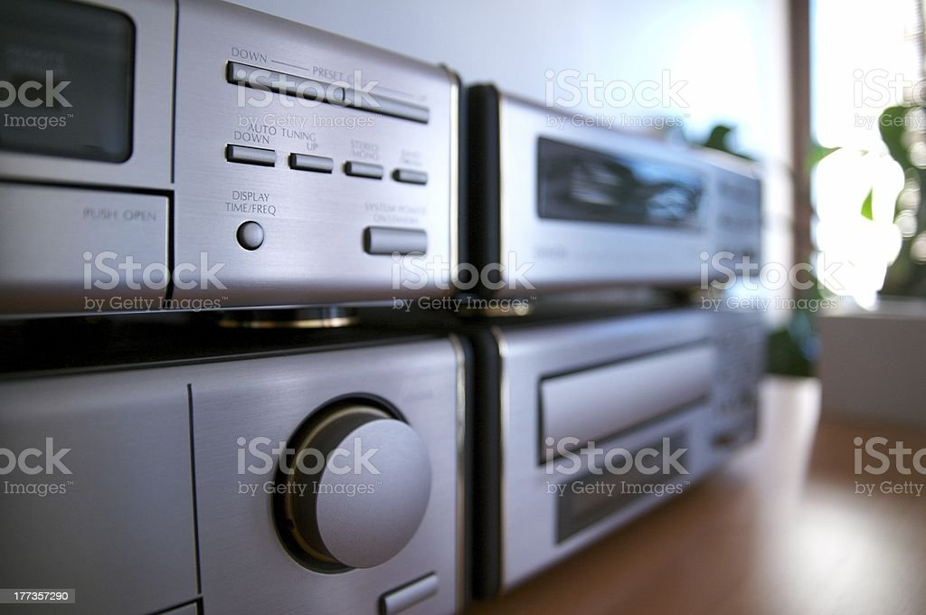 Hi-Fi Components stock photo