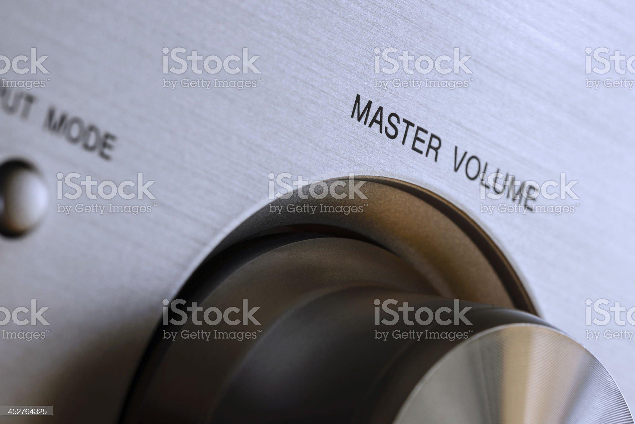 Hi-fi Master Volume Knob royalty-free stock photo