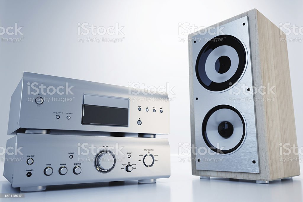 Hi-Fi sound system stock photo