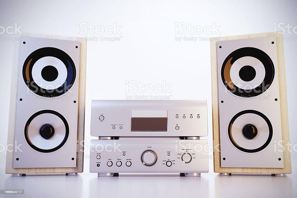 Hi-Fi sound system royalty-free stock photo