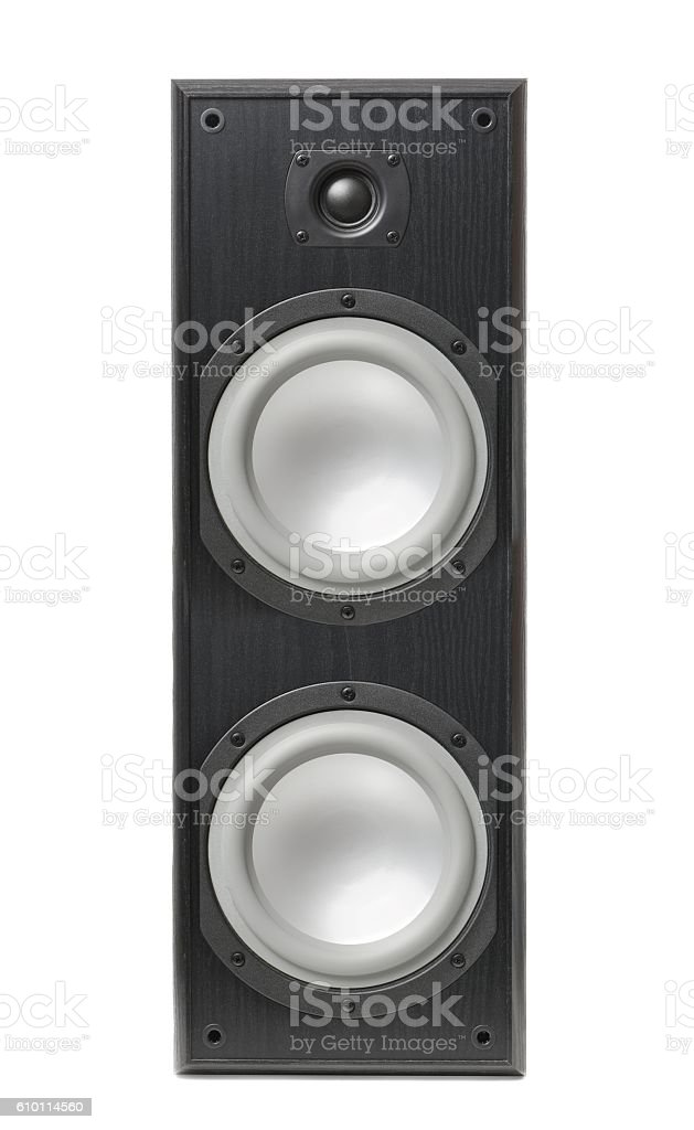 Hi-fi Speaker Isolated on White stock photo