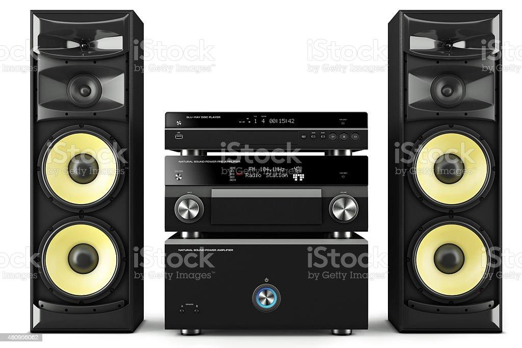 Hi-Fi stereo system stock photo