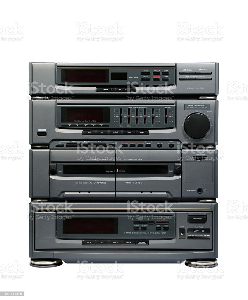 Hi-Fi System stock photo