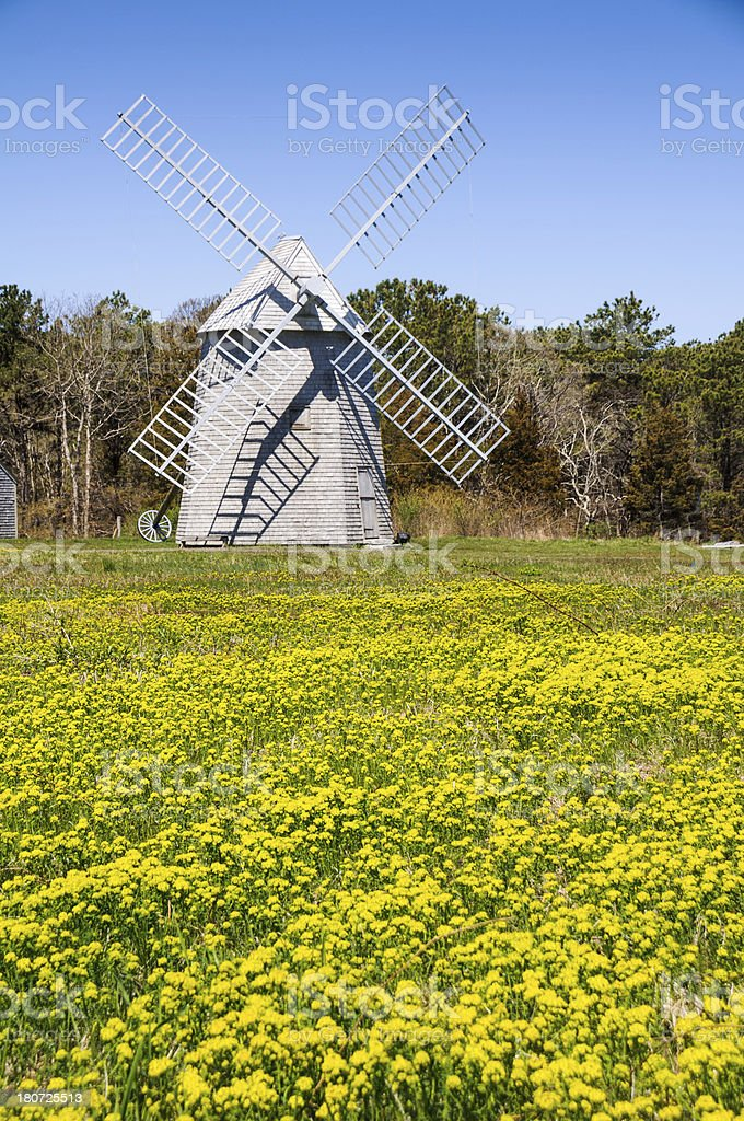 Higgins Farm Windmill royalty-free stock photo