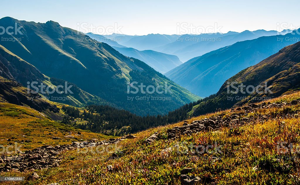 High Above 13,000 Feet above sea level Rocky Mountain High stock photo