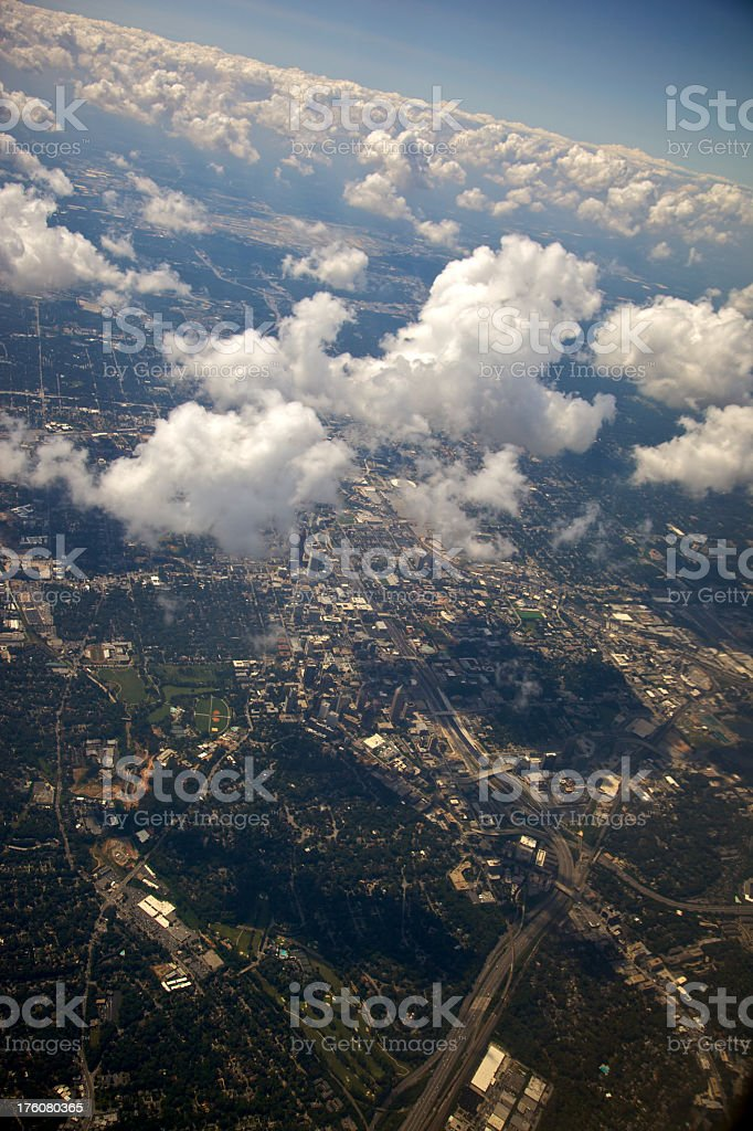 High Above Atlanta in Clouds XXXL royalty-free stock photo
