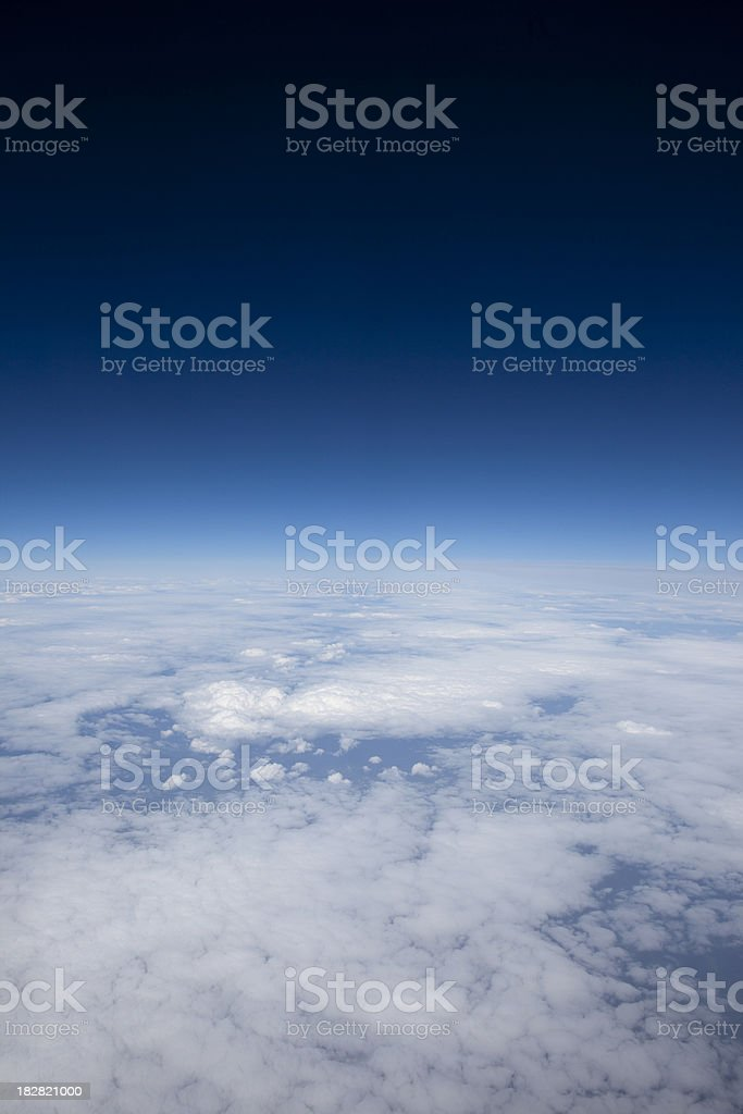 High above the clouds, cloudscape over Europe stock photo