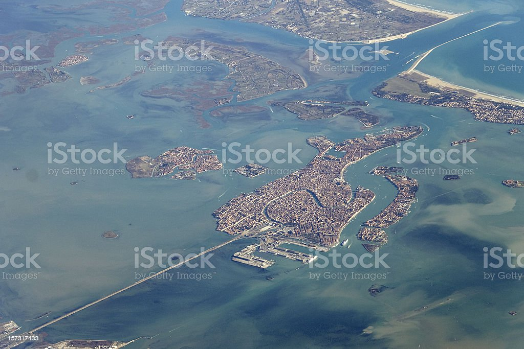 High above Venice royalty-free stock photo
