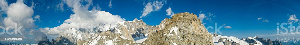 High Alpine peaks wild blue sky royalty-free stock photo