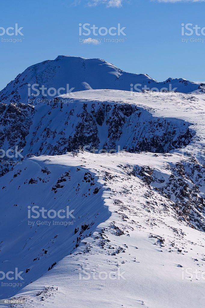 High Alpine Scenic View Landscape Mount Jackson Sawatch Mountain stock photo