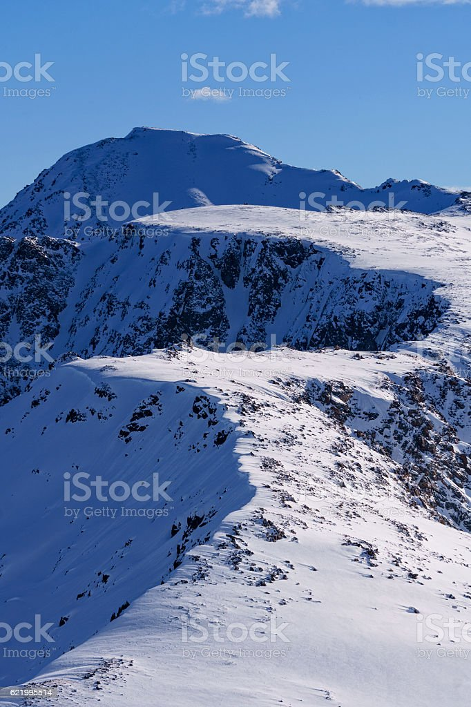 High Alpine Scenic View Landscape Mount Jackson Sawatch Mountain stock photo