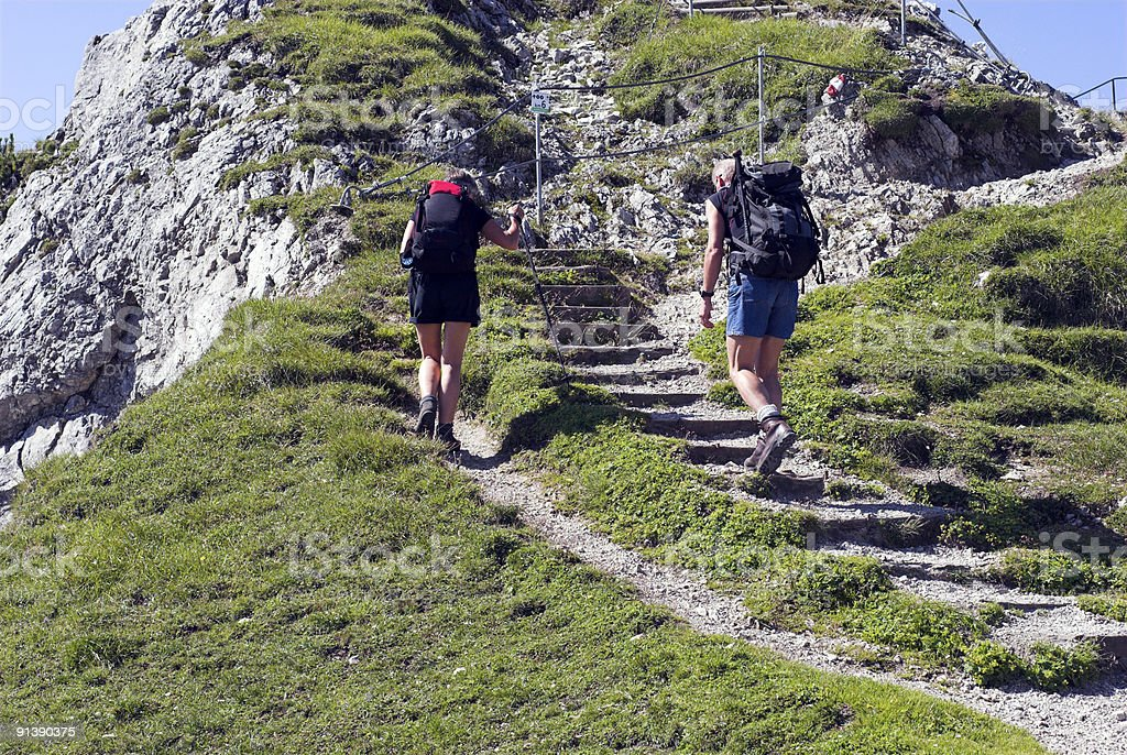 High Alps Hiking royalty-free stock photo