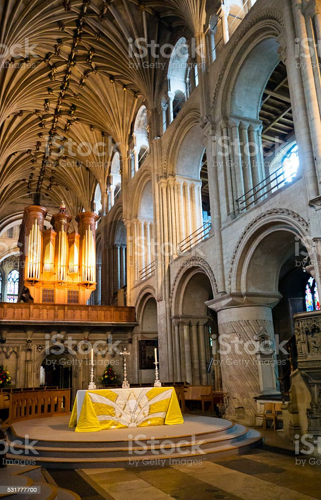 High Altar in Norwich Cathedral stock photo