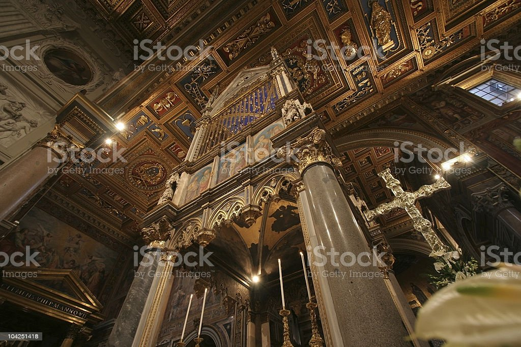 High altar of San Giovanni in Laterano stock photo