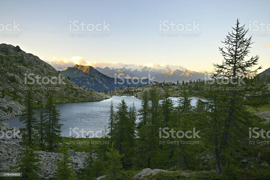 High altitude alpine lake royalty-free stock photo