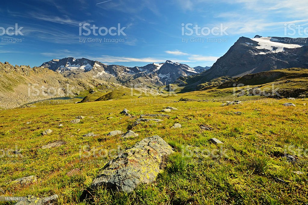 High altitude alpine scene royalty-free stock photo