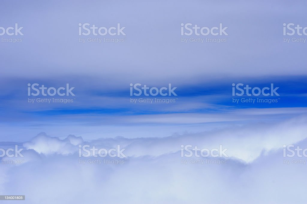 high altitude cloudscape stock photo
