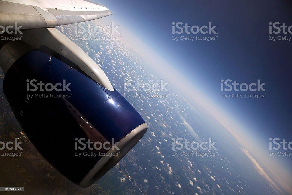 High Altitude Earth's Curvature XXXL stock photo