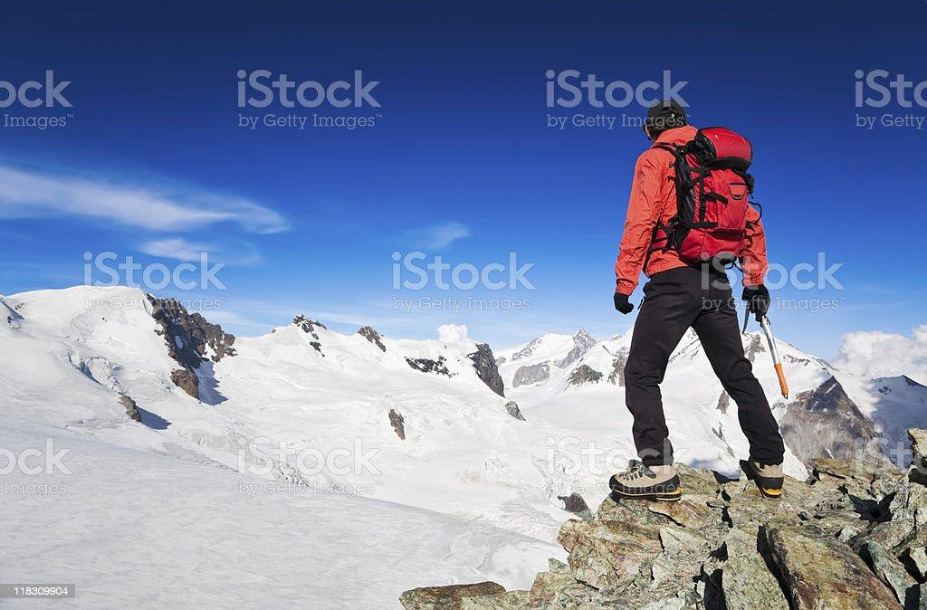 High Altitude Hiking stock photo