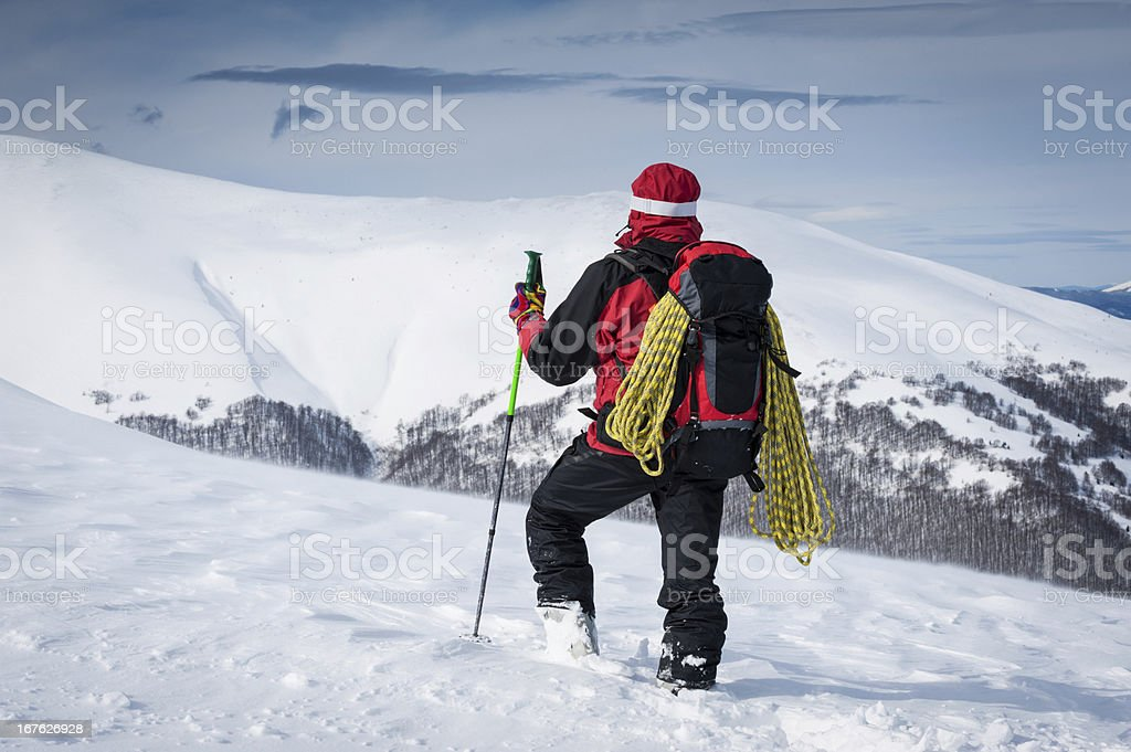 High Altitude Hiking royalty-free stock photo