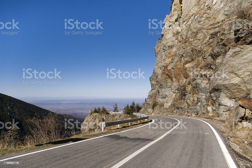 high altitude road royalty-free stock photo