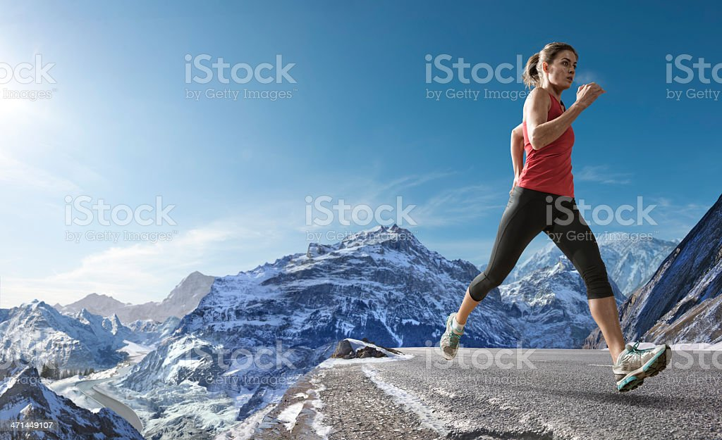 High Altitude Runner royalty-free stock photo