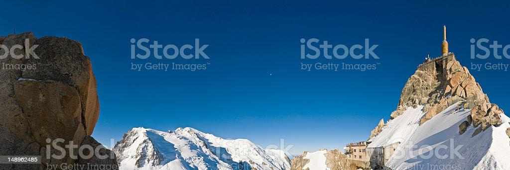 High altitude station Mont Blanc stock photo