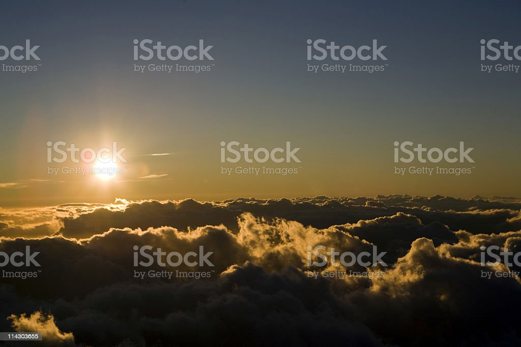 High Altitude Sunset royalty-free stock photo