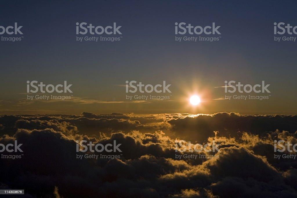 High Altitude Sunset royalty-free stock photo