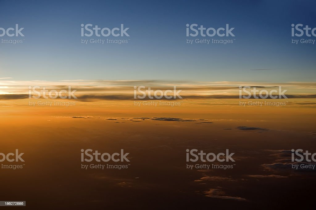 High altitude sunset. royalty-free stock photo